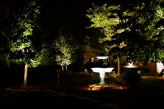 accent-lighting-on-fountain-focal-point-in-yard