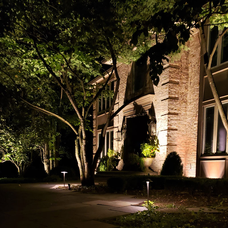 landscape lighting design in Highland Park illinois