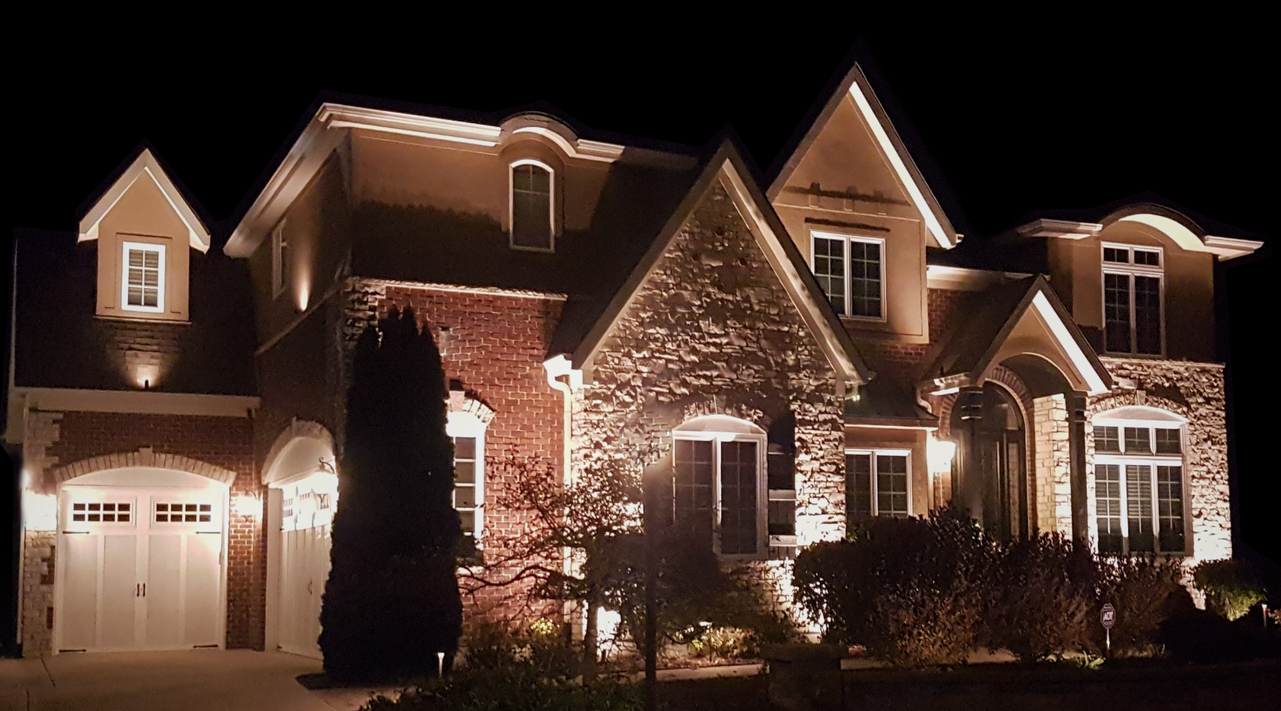 outdoor home lighting by professional contractors